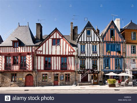 buy house in brittany brittany france vannes morbihan medieval shops and houses stock photo royalty