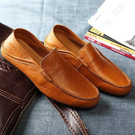 summer loafers mens mens leather loafers shoes summer suede leather shoes