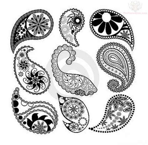 paisley tattoo design paisley pattern images designs