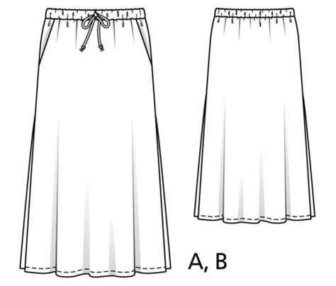 elastic waist maxi skirt plus size 03 2017 124b