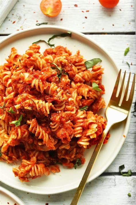 pasta recipe spicy pasta with lentils minimalist baker recipes