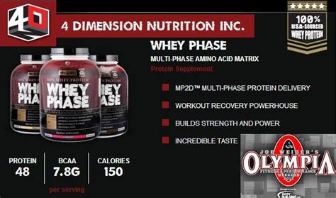 Suplemen Whey Phase Suplemen 4d Nutrition Whey Phase Jual Suplemen Fitness