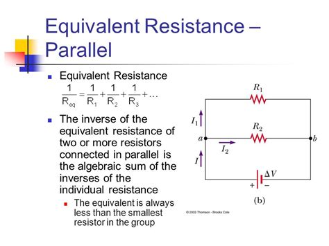 resistors connected in parallel circuit current and direct current circuits ppt