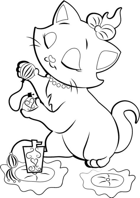 Gambar Mewarnai Kucing Untuk Anak SD,TK dan PAUD