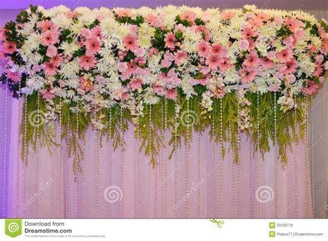 Flower decorate backdrop stock photo. Image of luxury