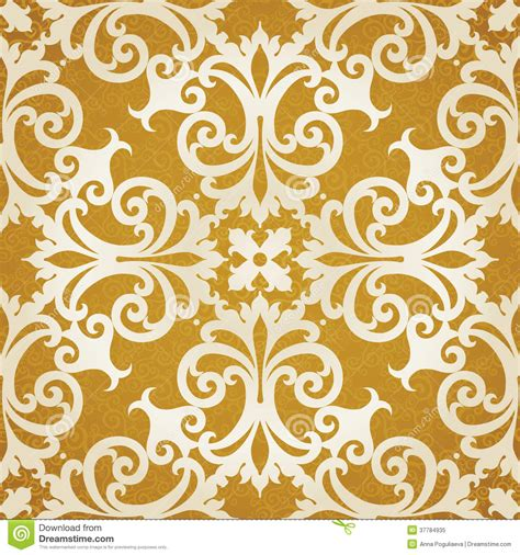pattern vector motifs vector seamless pattern with swirls and floral motifs in