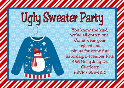 sweater invitations sweater invitation wording decore