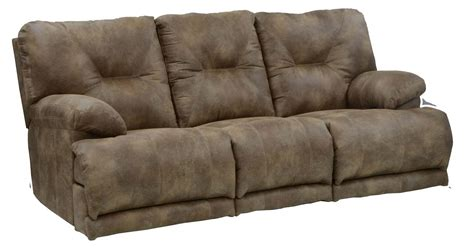 Catnapper Sofa Recliner Catnapper Voyager Lay Flat Sofa With 3 Recliners And Drop Table 43845