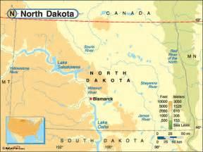North Dakota Map Usa by North Dakota Highways Map
