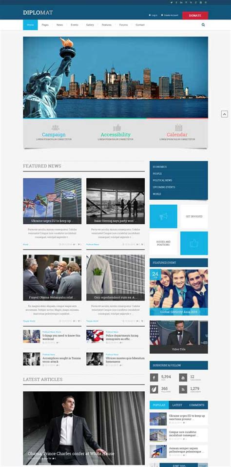 17 Best Political Themes For Politicians In 2016 - 25 best political themes 2016 tutorial zone