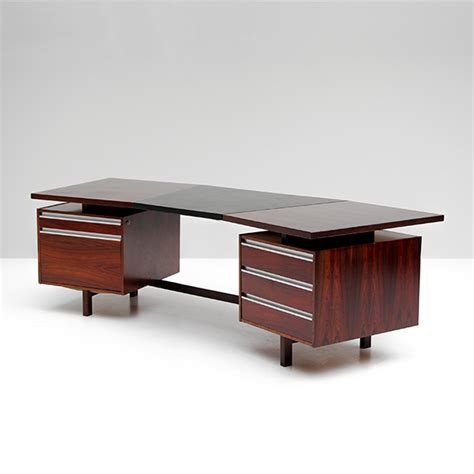 Boomerang Desk by Rosewood And Leather Boomerang Desk For Sale At Pamono