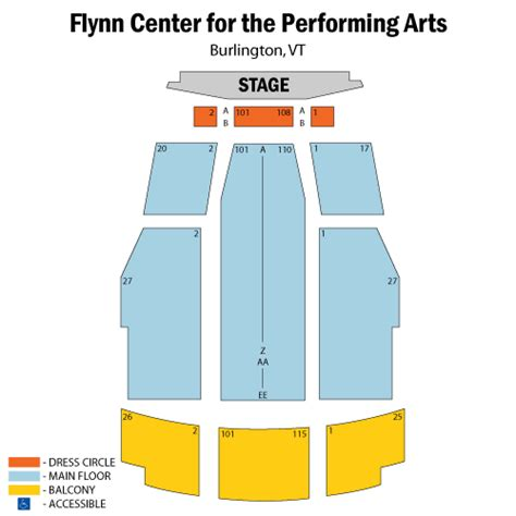 flynn seating chart south pacific march 15 tickets burlington flynn center