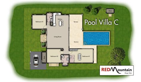 villa layout plan with pool boutique villa c red mountain hua hin