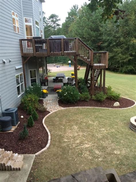 backyard plans designs best 25 deck landscaping ideas on