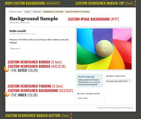 html layout themes how to add custom backgrounds to the thesis wordpress theme