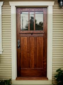 A Craftsman Style Door Of Spanish Cedar And Antique Glass Mission Style Exterior Doors
