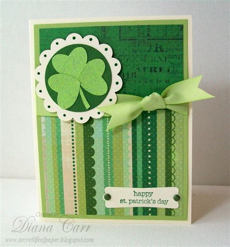 Handcrafted By St - handmade patrick s day card