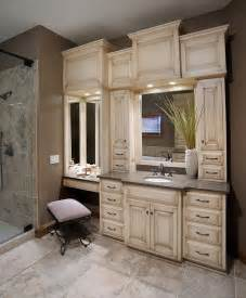 custom bathroom vanities with makeup area woodworking