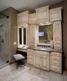 Custom Bathroom Vanities With Makeup Area Woodworking