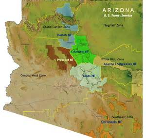 1528 arizona forest map