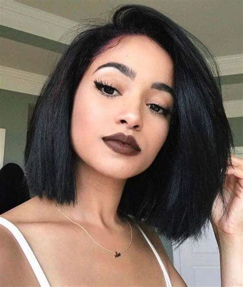 hair side part thin ugly bob side part glueless lace front wig 100 brazilian human