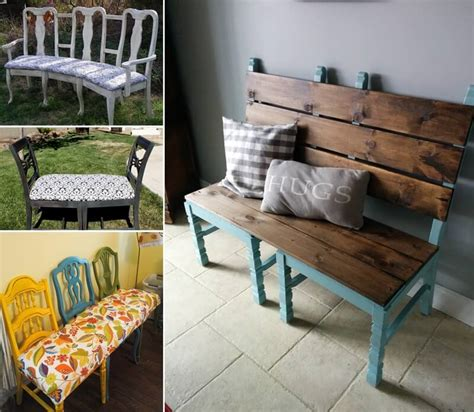 cool bench ideas here are some cool recycled chair bench ideas