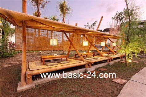 design interior cafe dari bambu desain rumah makan bambu bangun artha sarana insan