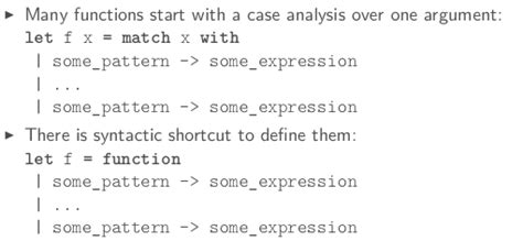 pattern matching string ocaml ocaml mooc week3 more advanced data structures 为程序员服务