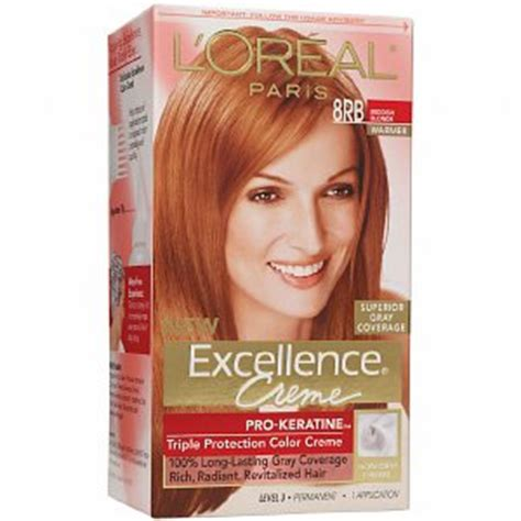 loreal hair color chart ginger l oreal excellence 8rb reddish blonde red hair hair