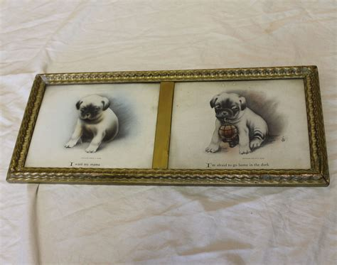 i want a pug puppy bargain s antiques 187 archive 1908 dated pug print i want my