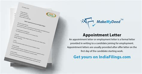 appointment letter generator employment agreements for startups