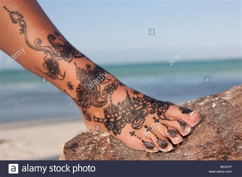 henna tattoo nyc upper west side foot tattoo stock photos foot tattoo stock images alamy