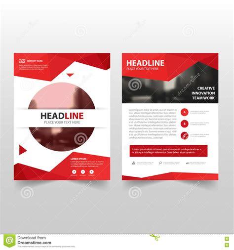 leaflet design eps red polygon vector annual report leaflet brochure flyer