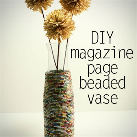 Recycle Paper Crafts - recycled crafts using magazine pages