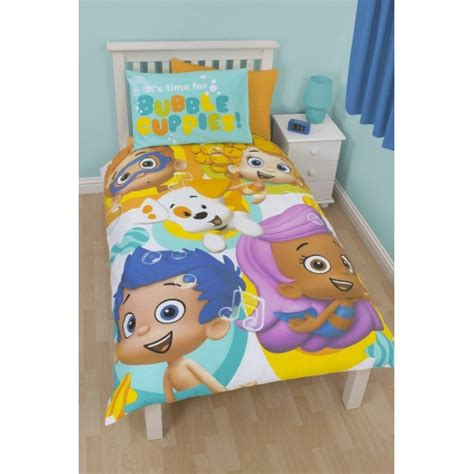 Bubble Guppies Splash Panel Single Bed Duvet Quilt Cover Guppies Bedding