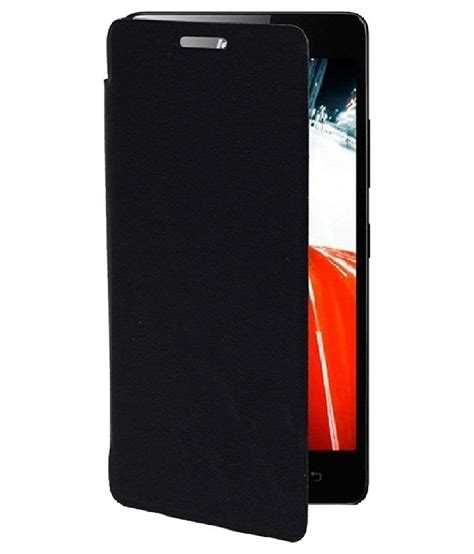 Flip Cover Lenovo A1000 Sma Flip Cover For Lenovo A1000 Black Flip Covers