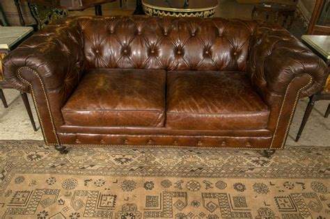 chesterfield settees for sale pair of english georgian style chesterfield sofa settees