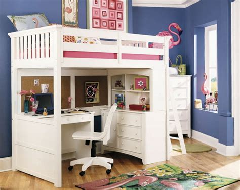 girl loft beds girls loft bed with desk design ideas and benefits homesfeed