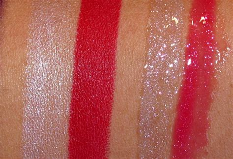 Lipstik Zam mac 2011 glitter and parade and dazzlesphere swatches makeup and