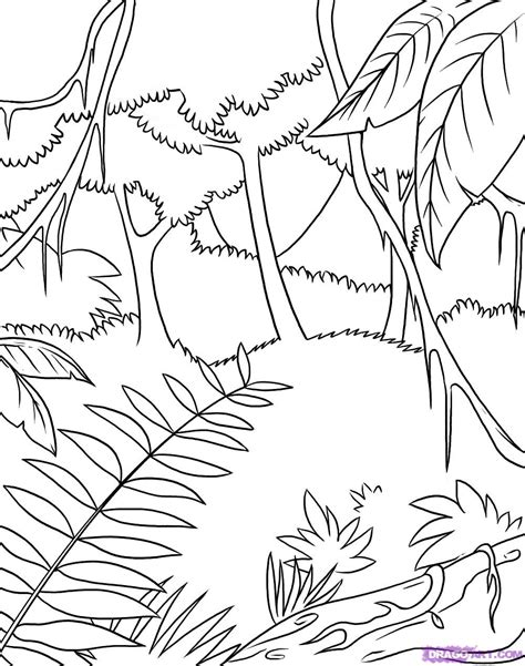 jungle landscape coloring pages jungle coloring sheets coloring page jungle scene