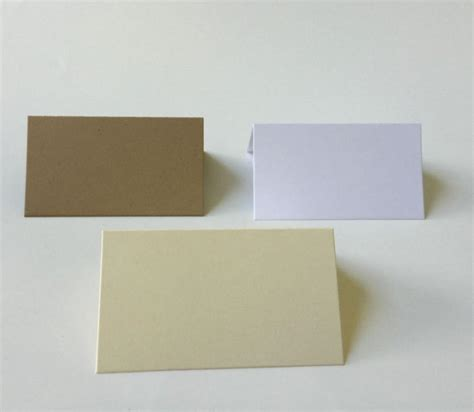 folded table place cards 25 blank tent cards kraft cards wedding