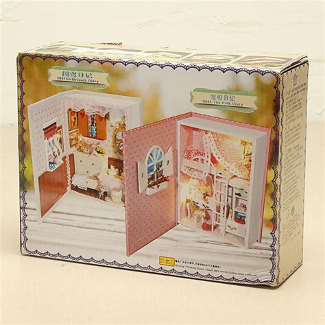 E002 Castle other soft toys hoomeda b004 pink diary diy dollhouse kit box theatre gift collection was