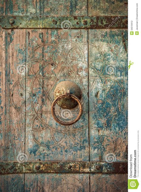 close  image  ancient doors stock photography image