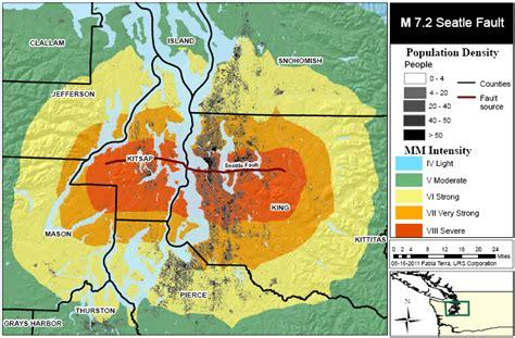 seattle earthquake map earthquake fault maps in seattle and washington state