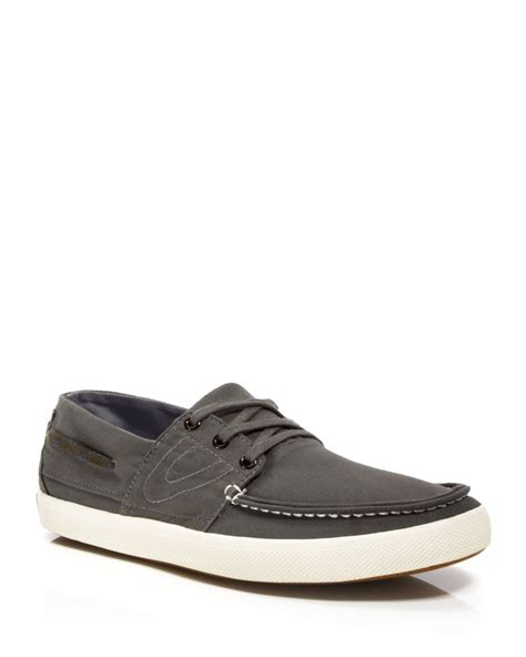 tretorns sneakers tretorn otto canvas boat shoe sneakers in silver for