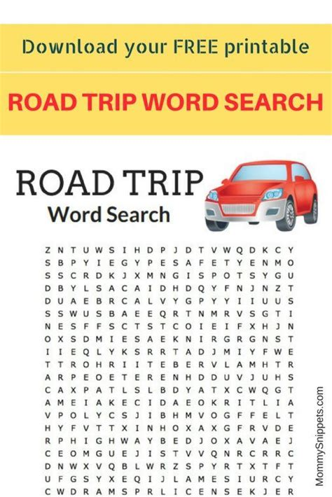 printable road trip word search 597 best popular posts from mommysnippets com images on
