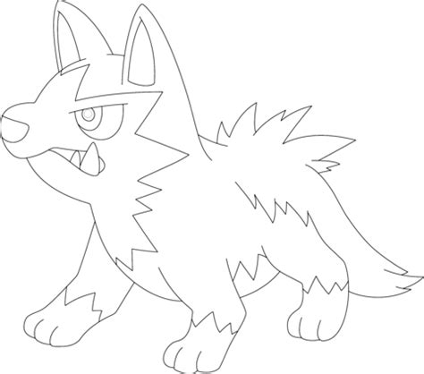 pokemon coloring pages poochyena poochyena coloring page free printable coloring pages