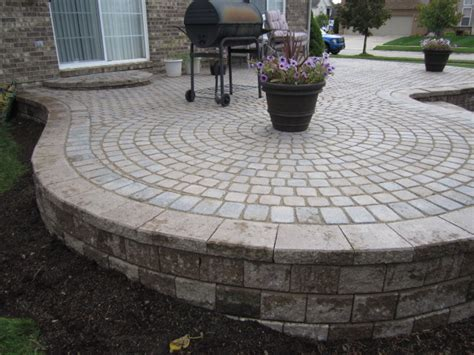 Raised Paver Patio Brick Pavers Canton Plymouth Northville Patios Repair Cleaning Sealing