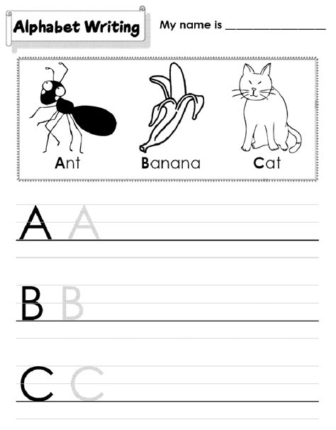 kindergarten printable worksheets writing numbers to 10