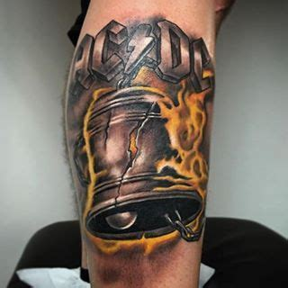 heavy metal tattoos acdc done by manubadet heavy metal tattoos